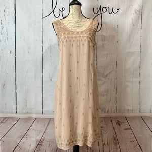 Sundance Harlow Embroidered Sleeveless Dress